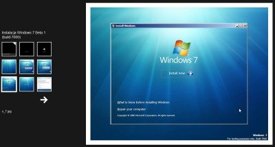 Galeria z instalacji Windows 7 Beta 1 (build 7000)